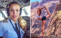 Když půvabná švédská pilotka nepilotuje obrovský Boeing, věnuje se józe. Její sexy postava a povolání sklidily na internetu úspěch