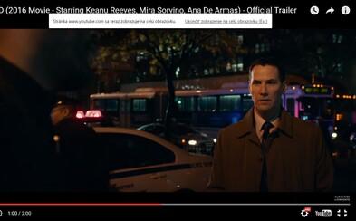 Keanu Reeves sa ocitá v chladných uliciach New Yorského ghetta v novom traileri pre krimi Exposed