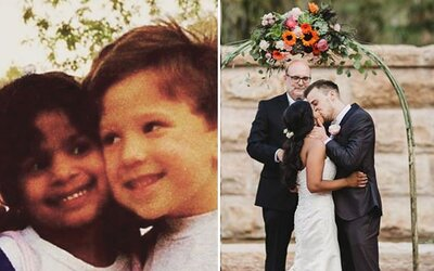 Keď mal tri roky, v triede svojej láske sľúbil svadbu. O 20 rokov ju Matt v rovnakej miestnosti požiadal o ruku