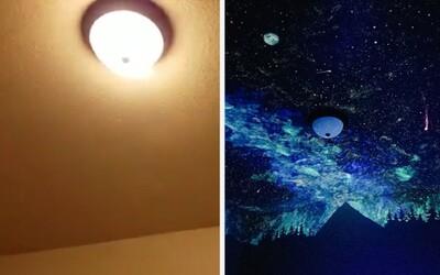 Keď malý Benjamin nechcel spávať vo vlastnej izbe, premaľovala mu strop na nočnú oblohu. Romantická maľba pomohla zmeniť jeho názor