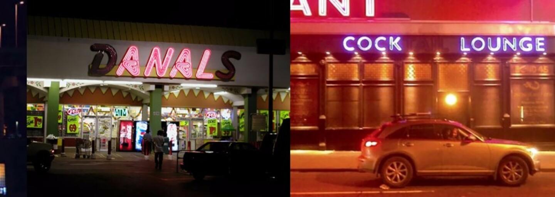 Když podniky zradí neonové nápisy. Obchody se rázem mění na peklo či místa plná lehkých žen