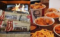KFC začalo predávať drevo do krbu, ktoré vonia ako vyprážané kura