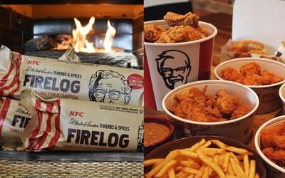 KFC začalo prodávat dřevo do krbu, které voní jako smažené kuře