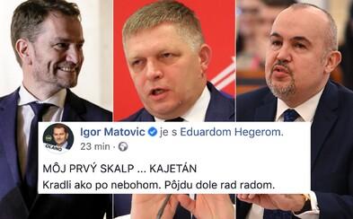 Kičura je Matovičov prvý skalp: Kradli ako po nebohom, pôjdu dole rad radom, tvrdí premiér