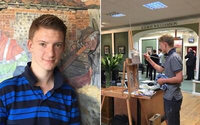 Kieronovi je 14 let, nazývají ho Mini Monetem a vydělal už více než 2 miliony liber. Maluje od raného dětství a celou kariéru má před sebou