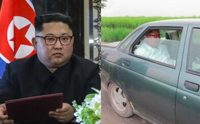 Kim Čong-un se po KLDR proháněl ve staré ladě. Svůj pancéřovaný mercedes na venkově nechtěl ukazovat