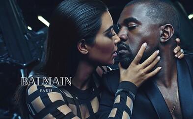 Kim Kardashian a Kanye West žiaria v novej kampani Balmain