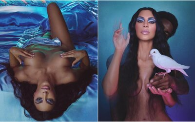Kim Kardashian opäť nahá. V kampani pre vlastnú kozmetiku sa zakrýva len prstami