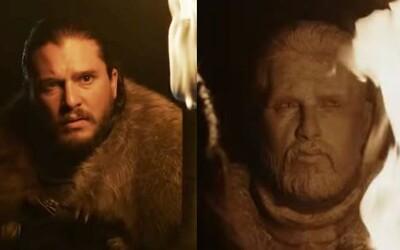 Kit Harington si vzal domů sochu Jona Snowa z prvního teaseru poslední série Game of Thrones