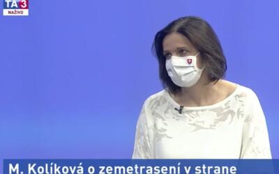 Koalícia nefunguje dobre, povedala ministerka spravodlivosti Mária Kolíková v diskusnej relácii V politike