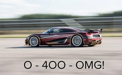 Koenigsegg vo veľkom štýle vysmial Bugatti. Staršia a slabšia Agera RS dala 0-400-0 km/h len za 36 sekúnd!