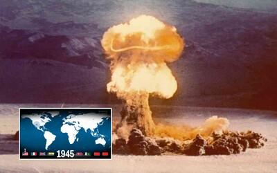 Kolik atomových bomb už explodovalo na Zemi? Zajímavá mapa tě přesvědčí, že víc, než si myslíš