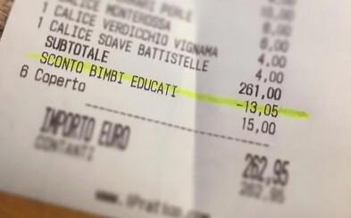 Konec dětského křiku v restauracích. V italském vinném baru dostaneš za slušně vychované děti slevu