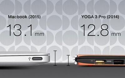 Konkurenti Applu vypískali nový MacBook: Jejich počítače jsou tenčí, levnější a mají i jemnější displej
