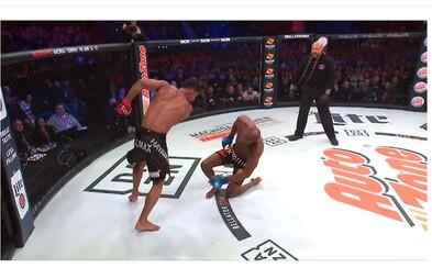 Kopačka a knockout roka? MMA bojovník provokoval svojho súpera, ten zakontroval dokonalou kombináciou