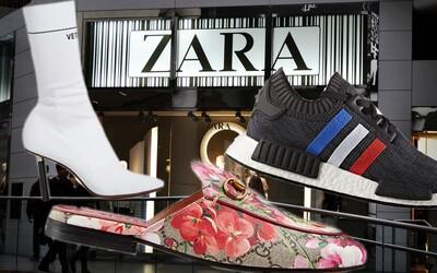 Kopírky Gucci, adidas nebo Vetements v podání Zary, Bershky a Stradivarius