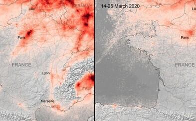 Koronavírus zlepšuje znečistené ovzdušie v Európe, ukazujú satelitné snímky