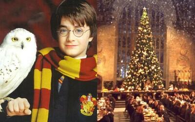 Kouzelnická škola z Harryho Pottera láká na vánoční večírek. Za 7 tisíc korun tě čeká velkolepá hostina, hudba a tanec