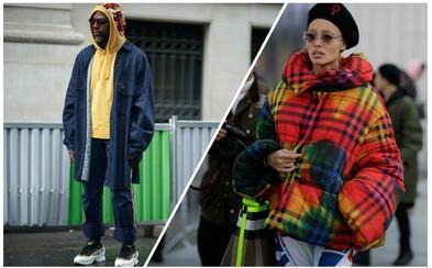 Kožené či nadrozměrné bundy, chunky tenisky nebo luxusní doplňky. Pouliční móda boří limity