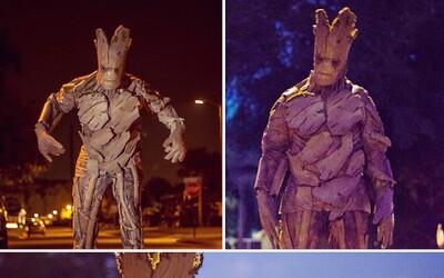 Kreatívny muž si na Halloween vytvoril úžasnú masku Groota!