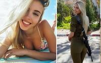 Křehká Maria se nezalekne ani vojenské služby. Izraelka však postavou a tváří víří spíše vody modelingu