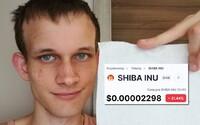 Kryptomiliardář Vitalik Buterin potopil meme mince shiba inu i akita inu, které imitovaly dogecoin. Miliony poslal na charitu