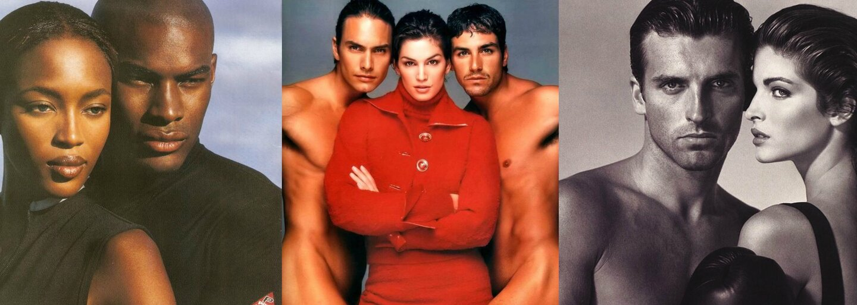 Kto boli a ako vyzerali najpopulárnejší pánski topmodeli minulého storočia objavujúci sa po boku Cindy, Naomi či Claudie?
