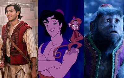 Ktorá z postáv v Aladinovi sa najviac podobá svojej animovanej verzii?