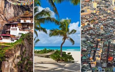 Ktoré krajiny navštevuje suverénne najmenšie množstvo ľudí? Zopár ich nájdeš aj v Európe, ale dominujú Karibik, Ázia či Afrika