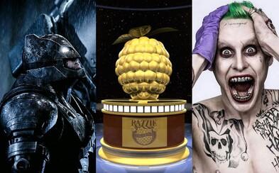 Ktorý film sa stane najhorším za rok 2016? Nominácie na Zlaté maliny favorizujú hlavne Batman v Superman