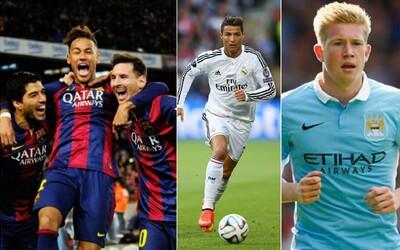 Ktorých 10 hráčov vládlo futbalu v roku 2015? Dotiahol to Ronaldo do najlepšej trojice?