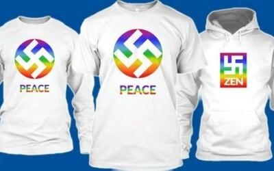 Kúp si tričko či mikinu s hákovým krížom a propaguj lásku i mier. Odvážny krok spoločnosti narazil na silnú kritiku
