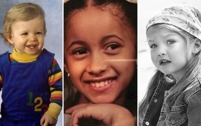 KVÍZ: Spoznáš známe celebrity podľa ich fotiek z detstva?