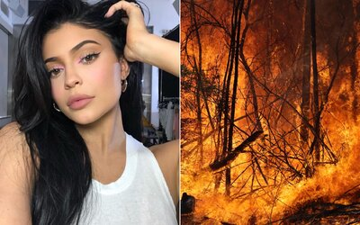 Kylie Jenner venovala milión dolárov na záchranu Austrálie po kritike za norkové Louis Vuitton papuče