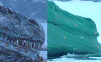 Kým sa stal Viserion Night Kingovou zbraňou, museli ho z ľadovej vody vytiahnuť dve desiatky protagonistov. Ako sa daná scéna natáčala?