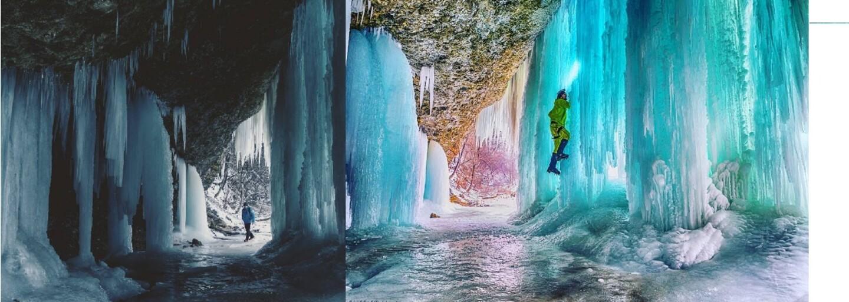 Ledové bludiště na Slovensku vysoké i 14 metrů, kde ztratit se je radost. Obrovský ledopád tě svou krásou a majestátností okouzlí