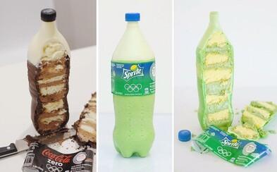 Lákavé zákusky vyzerajú ako fľaše obľúbených perlivých nápojov. Nájdeš rozdiel?