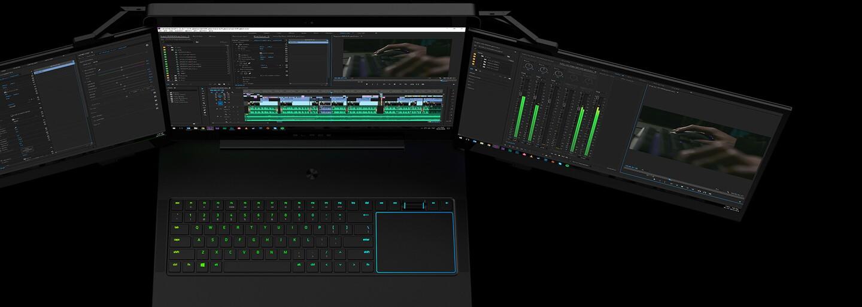 Laptop s tromi displejmi alebo projektor na rozšírenie herného prostredia. Razer to na CES 2017 roztočil