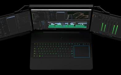 Notebook se třemi displeji nebo projektor k rozšíření herního prostředí. Razer to na CES 2017 roztočil
