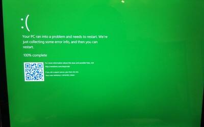 Legendárna modrá obrazovka smrti z Windowsu sa zmení na zelenú. Microsoft tak vizuálne odlíši jednotlivé verzie