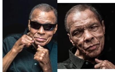 Legendární Muhammad Ali na svých posledních portrétech před smrtí. Jiskra bojovníka mu nechyběla ani na konci života