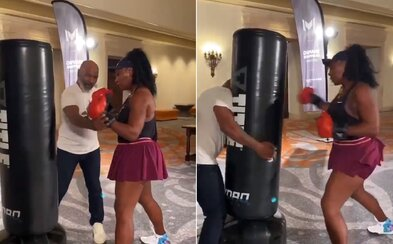 Legendární boxer Mike Tyson učí Serenu Williams boxovat. Uvidíme ji časem v ringu?