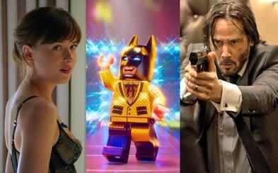 Lego Batman je v amerických kinech úspěšnější než 50 odstínů tragédie a zoufalství, John Wick však na misionářské hrátky v posteli nestačil
