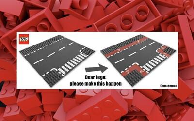 Lego je prý nepřátelské k cyklistům a podporuje auta. Důvodem jsou chybějící cyklostezky na jeho stavebnicích