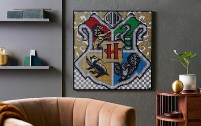 LEGO prináša svet Harryho Pottera na tvoju stenu. Postav si erb svojej obľúbenej fakulty