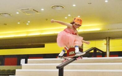 Len 8-ročná Sky je najmladšou skateboardistkou, ktorá sa zúčastnila prestížnej americkej súťaže Vans Pro Series