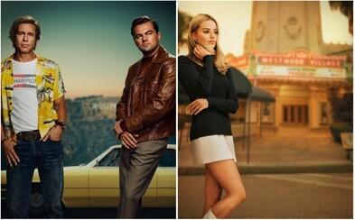 Leonardo DiCaprio, Brad Pitt a Margot Robbie odhalují na plakátech Tarantinův film o bouřlivých 70. letech v Hollywoodu