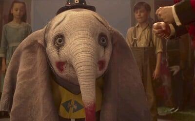 Létající slůně Dumbo od Tima Burtona překonává životní překážky v magické a dojemné ukázce