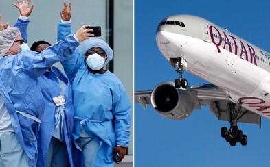 Letecká spoločnosť Qatar Airways chce rozdať letenky 100-tisíc zdravotníkom
