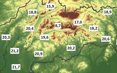Letné teploty boli na Slovensku nadpriemerné s veľkým množstvom búrok